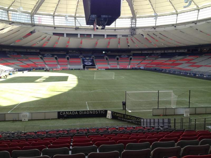 Seating view for BC Place Section 202 Row U Seat 8