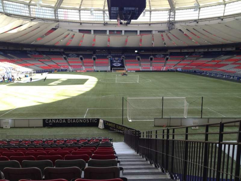 Seating view for BC Place Section 201 Row U Seat 101