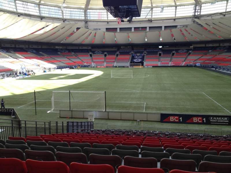 Seating view for BC Place Section 254 Row U Seat 8