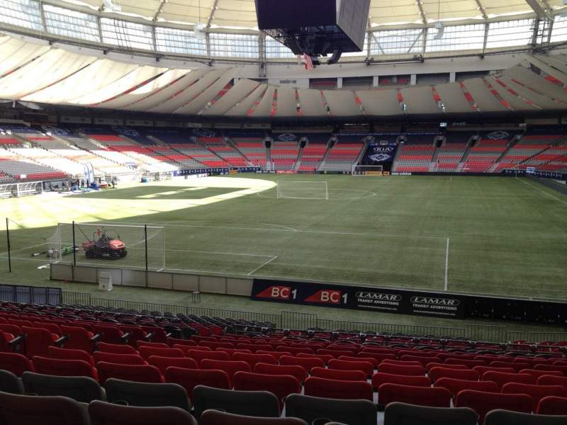 Seating view for BC Place Section 253 Row U Seat 7