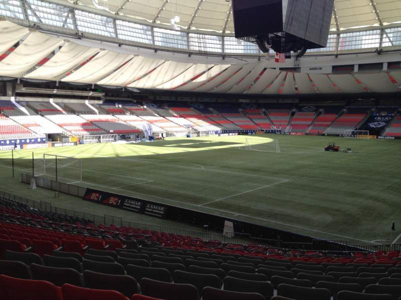 Seating view for BC Place Section 251 Row U Seat 8