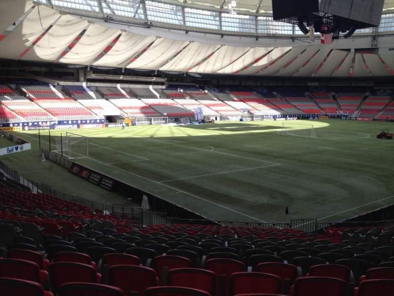 Seating view for BC Place Section 249 Row U Seat 8