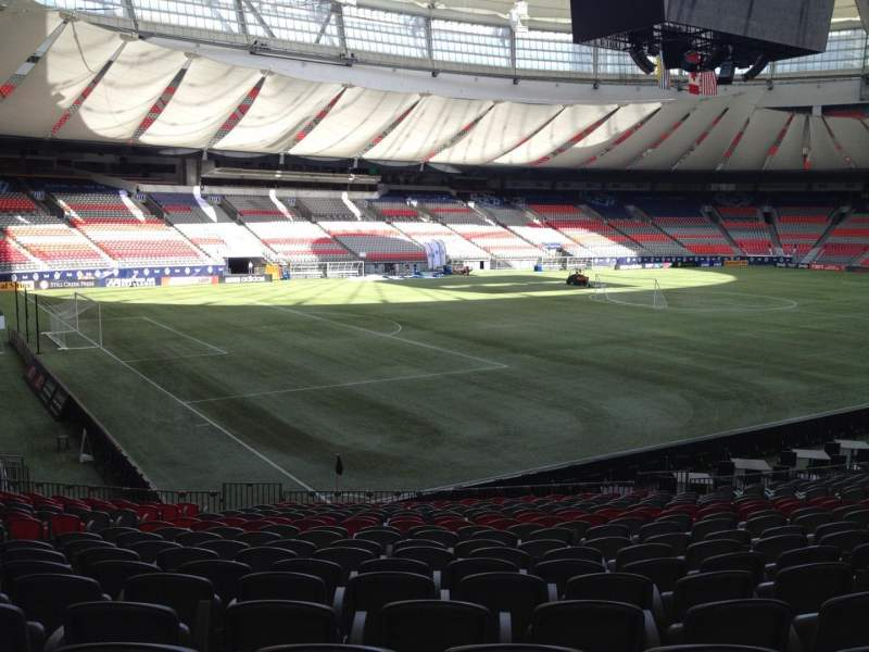 Seating view for BC Place Section 248 Row U Seat 8