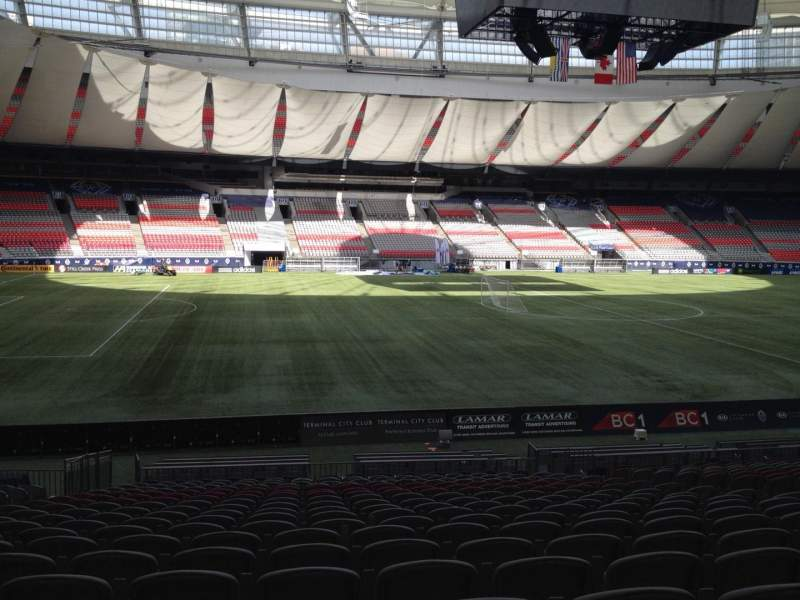 Seating view for BC Place Section 244 Row U Seat 8