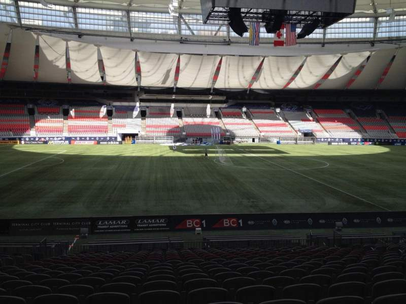 Seating view for BC Place Section 243 Row U Seat 8