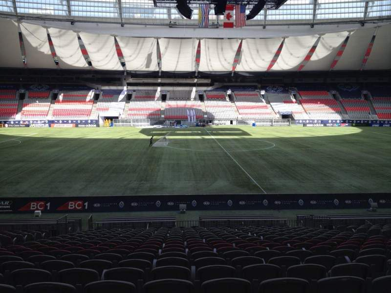 Seating view for BC Place Section 242 Row U Seat 8