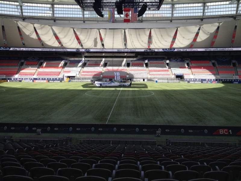 Seating view for BC Place Section 241 Row U Seat 8