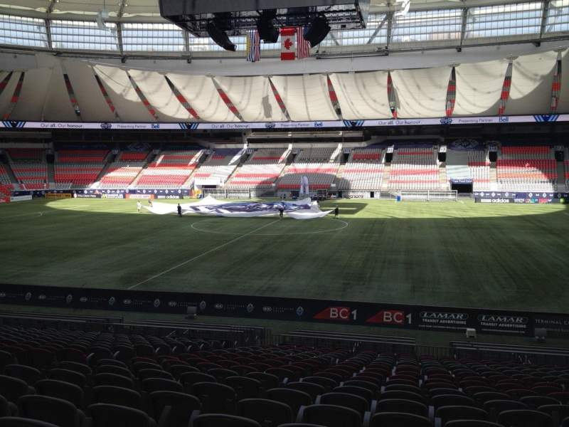 Seating view for BC Place Section 240 Row U Seat 8