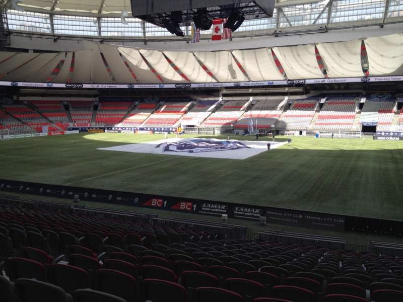 Seating view for BC Place Section 239 Row U Seat 8