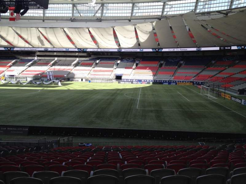 Seating view for BC Place Section 238 Row U Seat 8