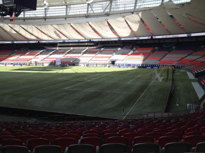 Seating view for BC Place Section 236 Row U Seat 8