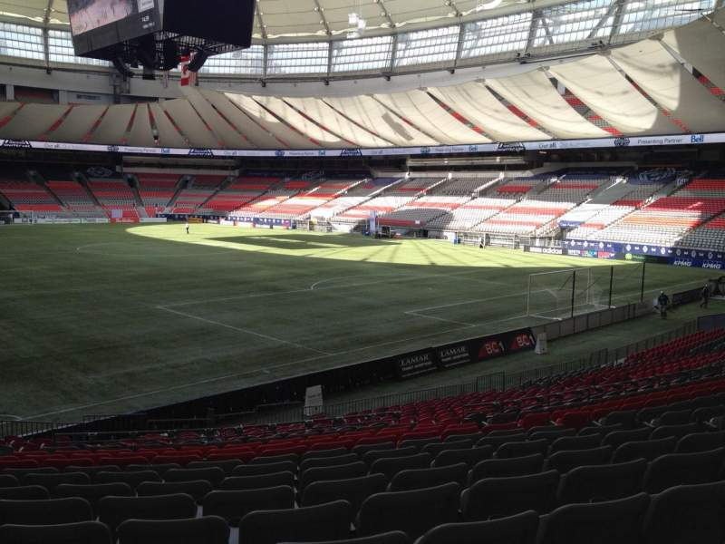 Seating view for BC Place Section 233 Row U Seat 8