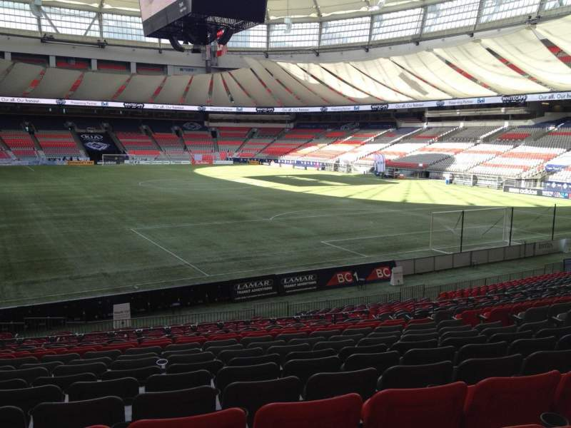 Seating view for BC Place Section 231 Row U Seat 8