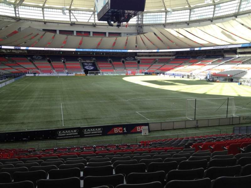 Seating view for BC Place Section 230 Row U Seat 7
