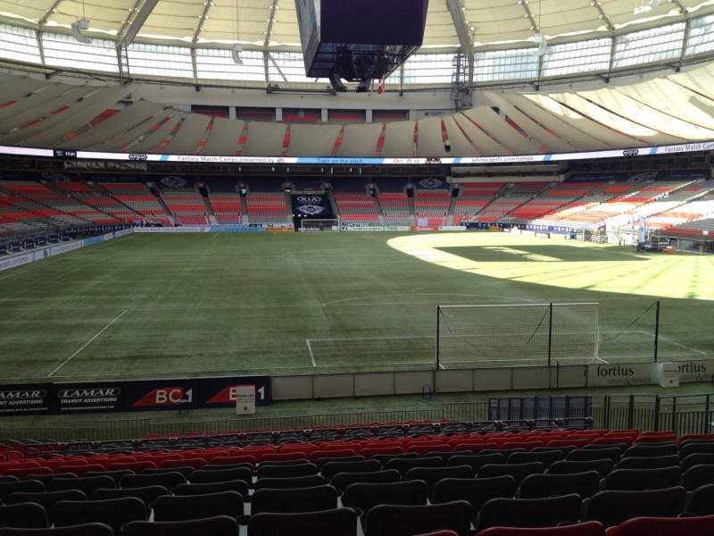 Seating view for BC Place Section 229 Row U Seat 8