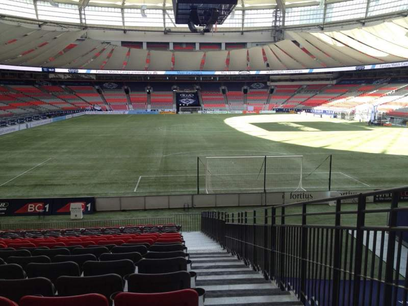 Seating view for BC Place Section 228 Row U Seat 101