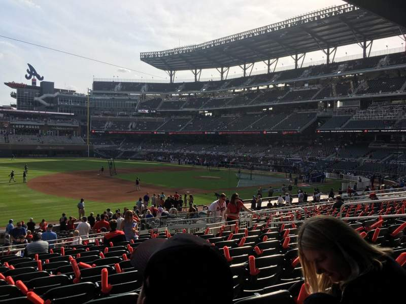 Seating view for SunTrust Park Section 137 Row 12 Seat 13