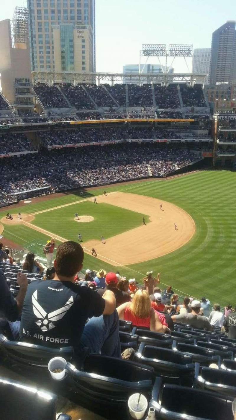 Seating view for PETCO Park Section UP 321 Row 21 Seat 21