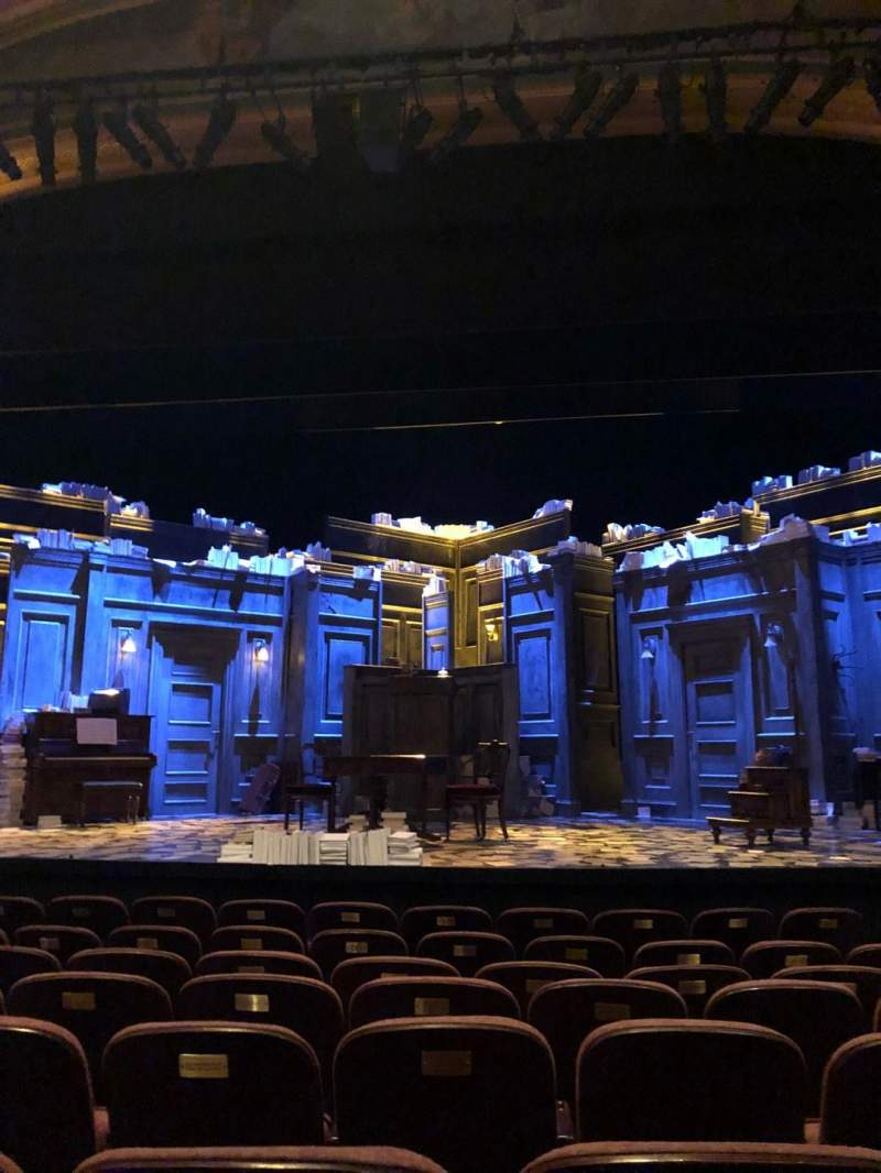 Seating view for American Airlines Theatre Section Orchestra C Row H Seat 105