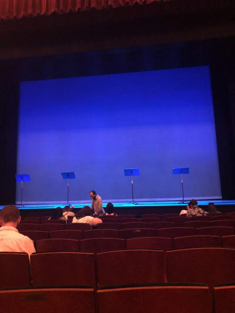 Seating view for Mainstage at the New York City Center Section Orchestra Row F Seat 114