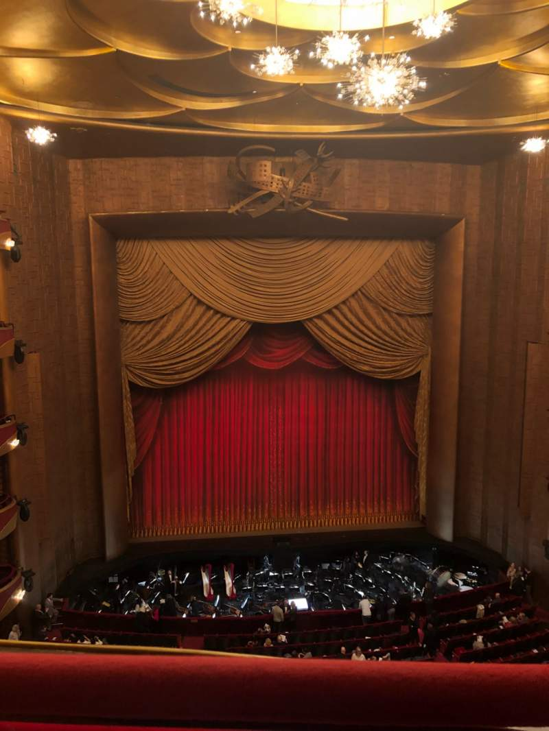 Seating view for Metropolitan Opera House - Lincoln Center Section Balcony Row A Seat 115