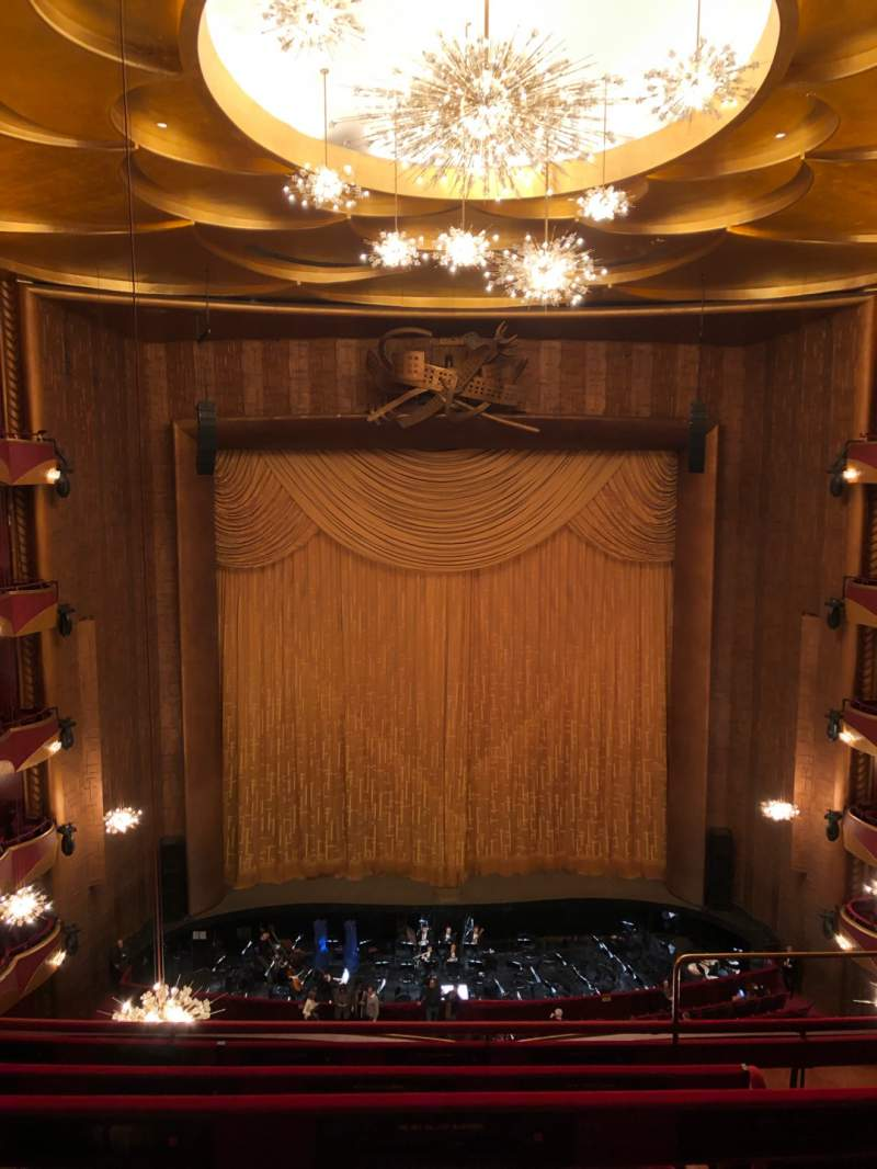 Seating view for Metropolitan Opera House - Lincoln Center Section Balcony Row D Seat 103