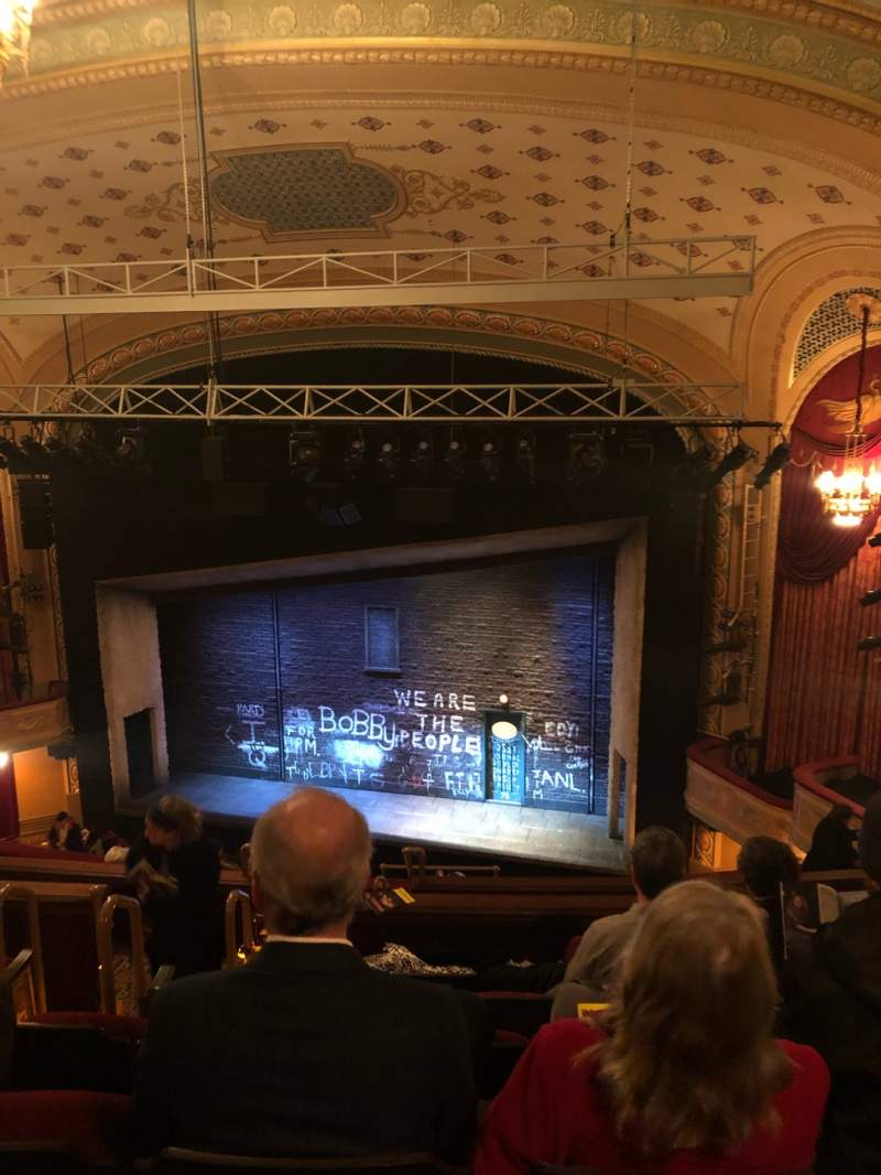Seating view for Bernard B. Jacobs Theatre Section Rear Mezz Row K Seat 8
