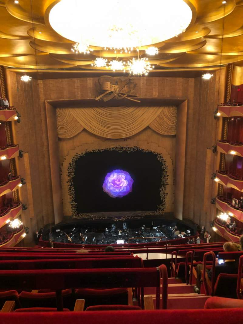 Seating view for Metropolitan Opera House - Lincoln Center Section Balcony Row G Seat 103