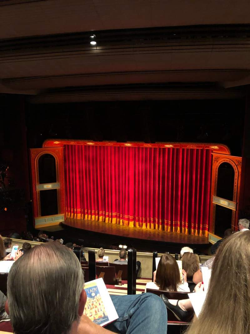 Seating view for Marquis Theatre Section Mezzanine R Row H Seat 4