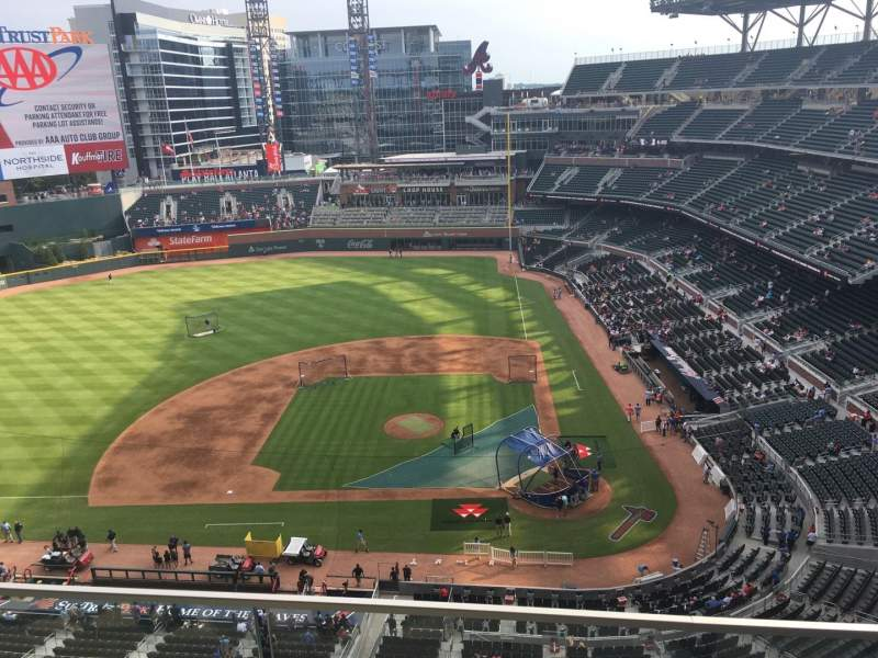 Seating view for SunTrust Park Section 430 Row 2 Seat 18