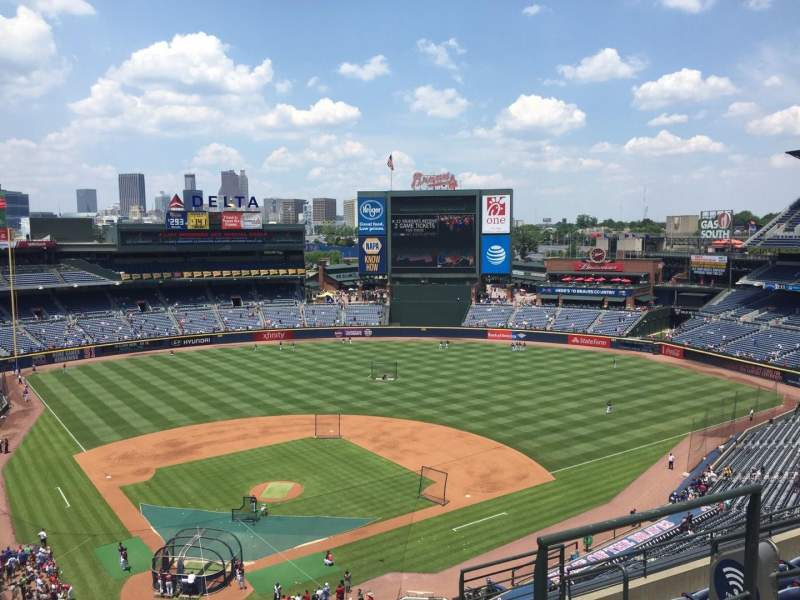 Seating view for Turner Field Section 405L Row 7 Seat 103