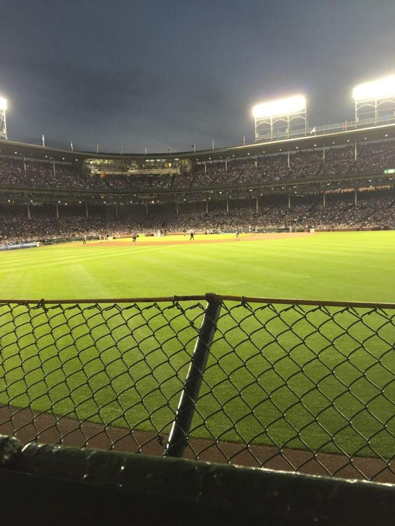Seating view for Wrigley Field Section Bleachers Row 1