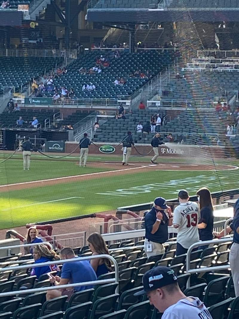 Seating view for Truist Park Section 138 Row 1 Seat 9