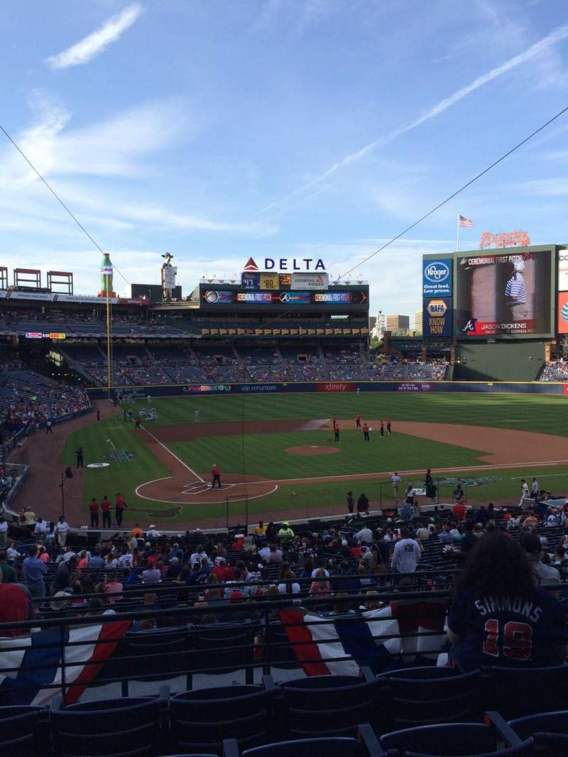 Seating view for Turner Field Section 205 Row 5 Seat 112