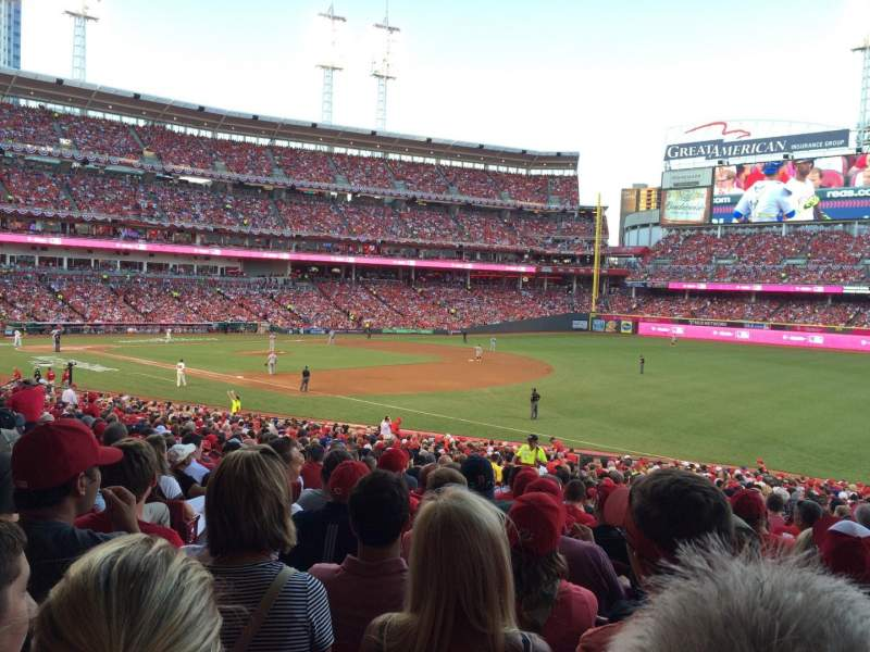 Seating view for Great American Ball Park Section 135 Row JJ Seat 18