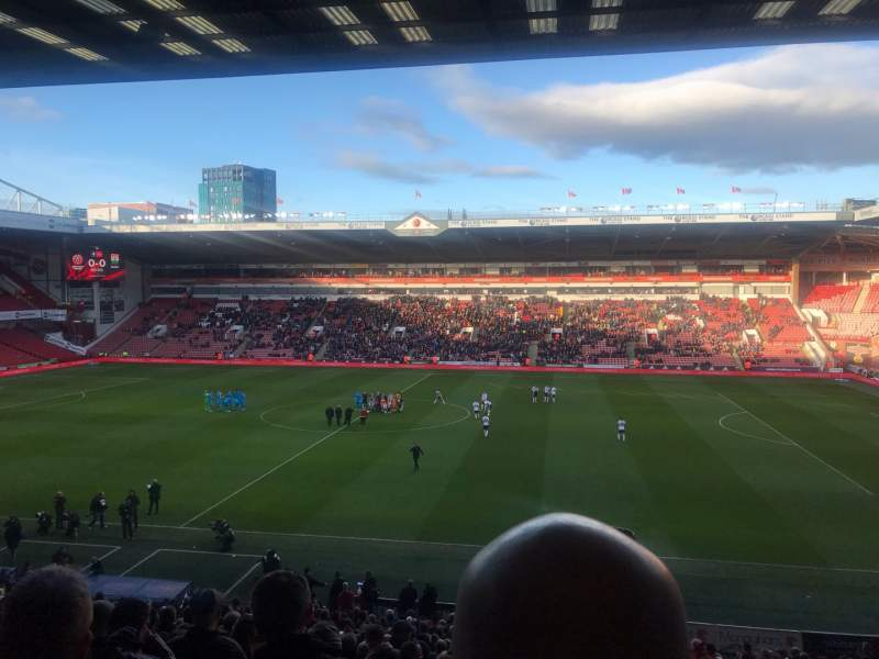 Seating view for Bramall Lane Section South Stand Row DD Seat 65