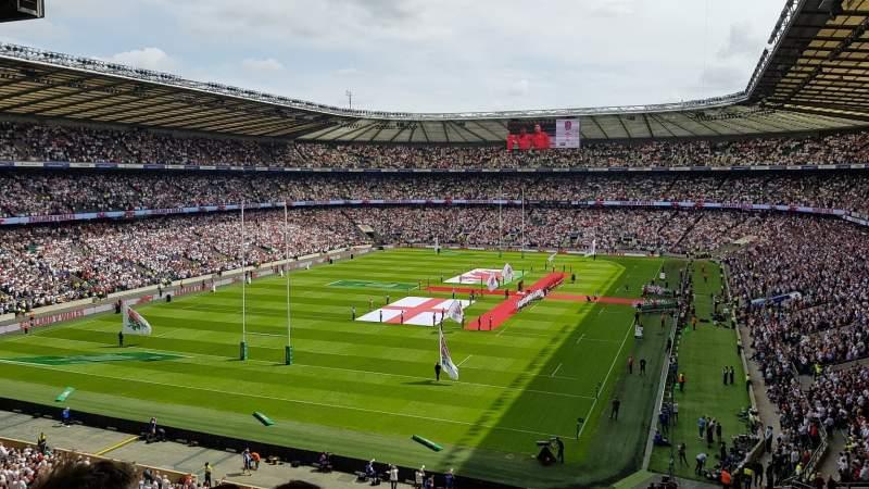 Seating view for Twickenham Stadium Section M17 Row 68 Seat 38