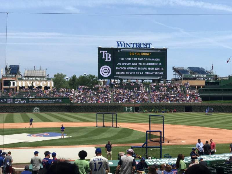 Seating view for Wrigley Field Section 127 Row 15 Seat 104
