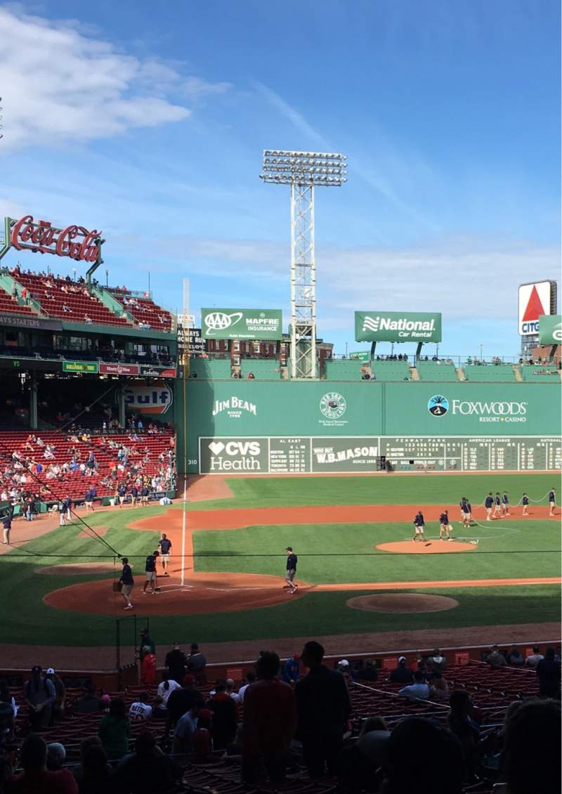 Seating view for Fenway Park Section Grandstand 17 Row 7 Seat 15