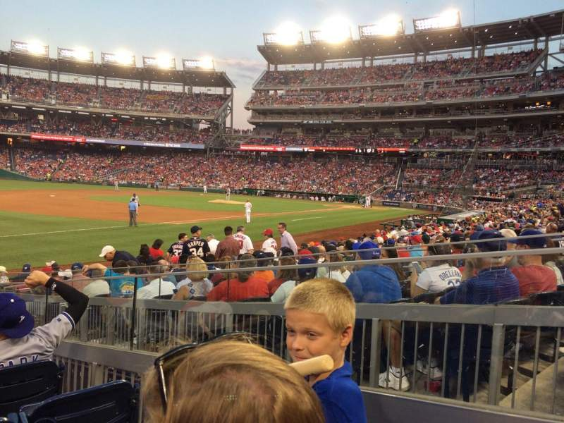 Seating view for Nationals Park Section 112 Row T Seat 15