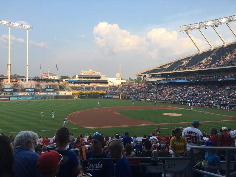 Seating view for Kauffman Stadium Section 217 Row DD Seat 9