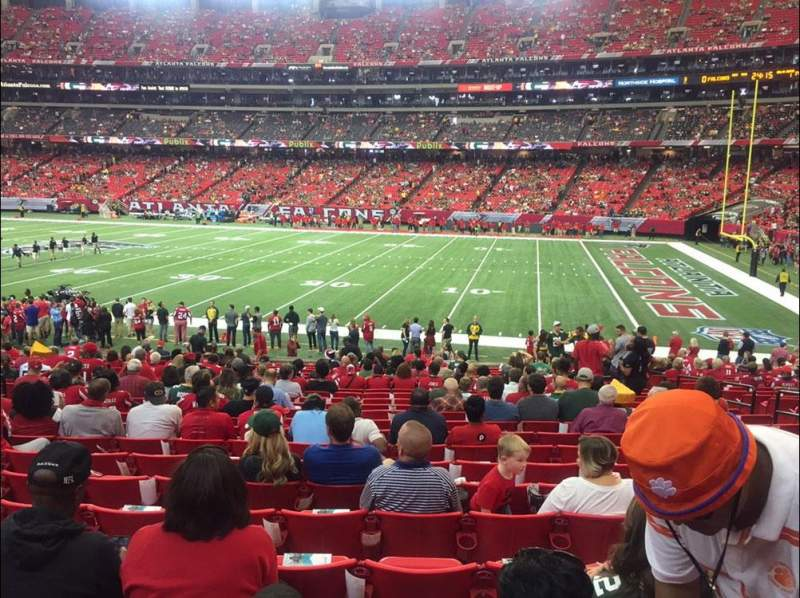 Seating view for Georgia Dome Section 112 Row 22 Seat 8