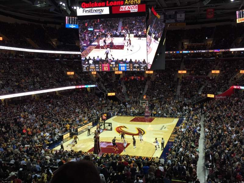 Seating view for Quicken Loans Arena Section 101 Row 24 Seat 14