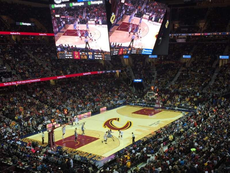Seating view for Quicken Loans Arena Section 104 Row 30 Seat 3