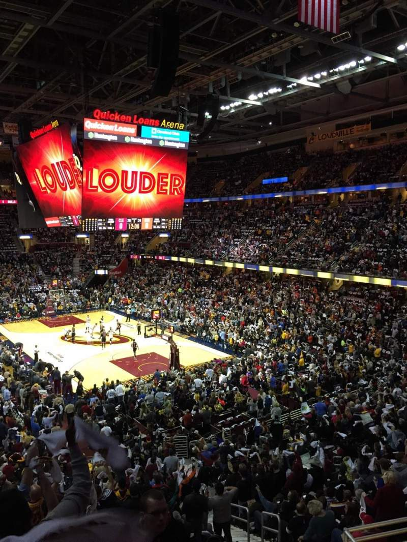 Seating view for Quicken Loans Arena Section 131 Row 26 Seat 14