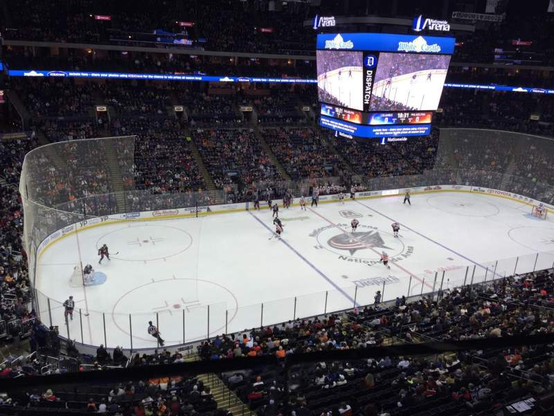 Seating view for Nationwide Arena Section 219 Row A  Seat 15