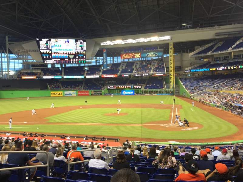Seating view for Marlins Park Section 18 Row 12  Seat 8