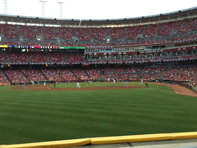Seating view for Great American Ball Park Section 104 Row D Seat 18