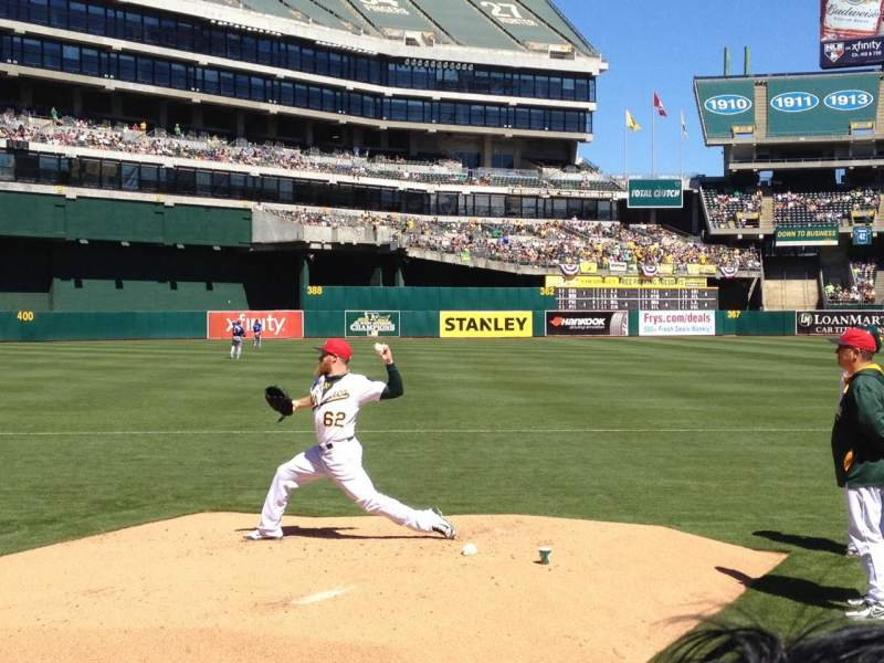Seating view for Oakland Alameda Coliseum Section 126 Row 2 Seat 1