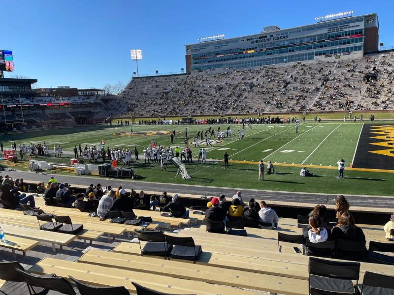 Seating view for Faurot Field Section 109 Row 21 Seat 20